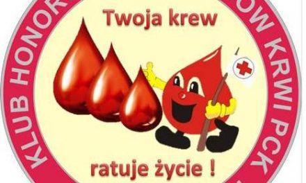 Lipiński Klub HDK uczci Światowy Dzień Krwiodawcy