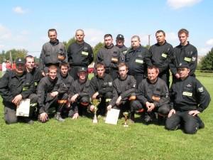 Zwycięska drużyna OSP Pagorzyna