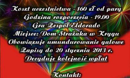 IBal Strażaków Powiatu Gorlickiego odbędzie się wKrygu