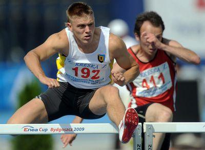 HMŚ Sopot 2014: Dominik Bochenek awansował dopółfinału biegu na60 m ppł
