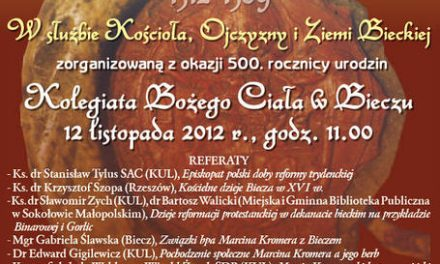 Biskup Marcin Kromer – konferencja naukowa wBieczu