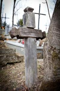 Krzyż nastarym cmentarzu wLipinkach