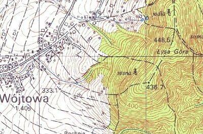 Łysa Góra wyższa o11 metrów