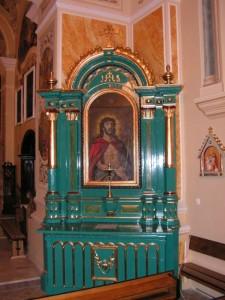 Stary kościół wLipinkach (ołtarz boczny)