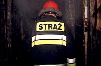 Pożar wKobylance. Płonął budynek gospodarczy