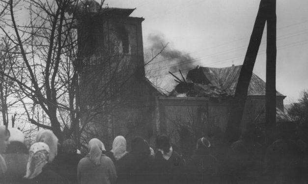 Pożar Sanktuarium wLipinkach w1972 roku
