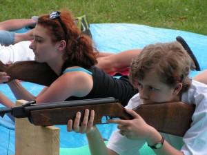 Zawody strzeleckie wlipińskim parku