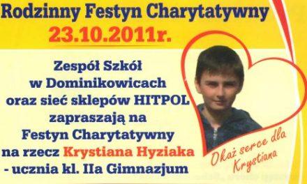 Festyn Charytatywny narzecz Krystiana Hyziaka