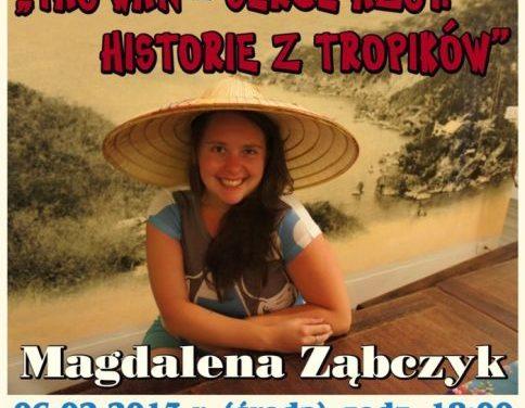Magdalena Ząbczyk opowie wCieklinie oTajwanie