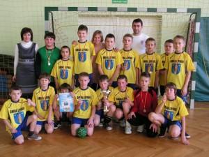 Turniej Mikołajkowy 2011 - drużyna szczypiornistów zLipinek
