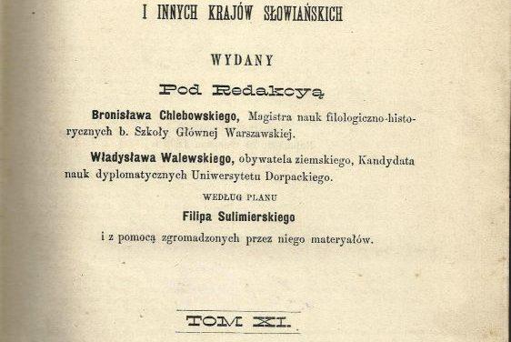 Słownik Geograficzny Królestwa Polskiego