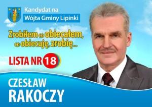 Czesław Rakoczy - Wójt Gminy Lipinki
