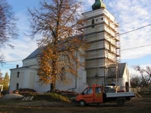 Remont starego kościoła wLipinkach - jesień 2008