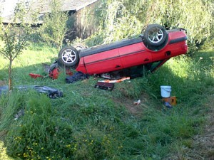 Wypadek wLibuszy © Portal MojeGorlice.pl