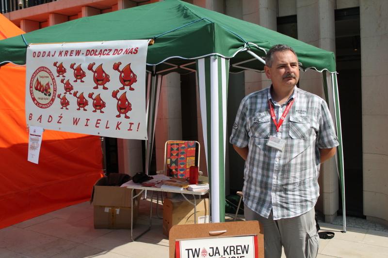 Happening wGorlicach zokazji 55-lecia krwiodawstwa