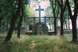 Krzyż centralny cmentarza wSękowej
