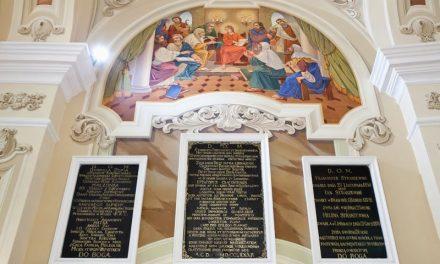 Epitafia zabytkowego kościoła wLipinkach