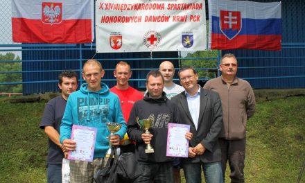 Przemysław Janek zKlubu HDK Lipinki zwycięzcą Spartakiady Krwiodawców