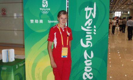 Jolanta Wójcik wwiosce olimpijskiej