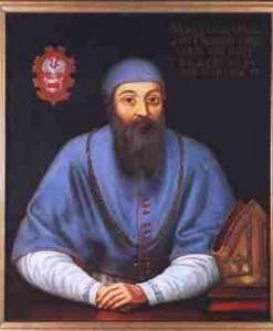 Portret Marcina Kromera eksponowany wbieckim muzeum