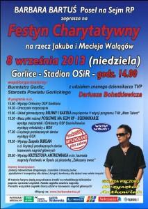 plakat Festyn Charytatywny Walagow