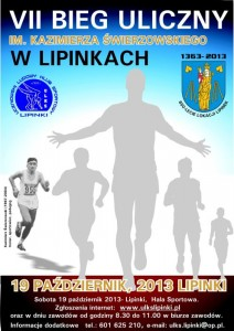 plakat VII Bieg Uliczny 2013