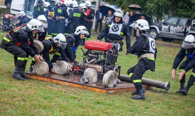 OSP Wójtowa napodium X Powiatowych Zawodów Sportowo-Pożarniczych