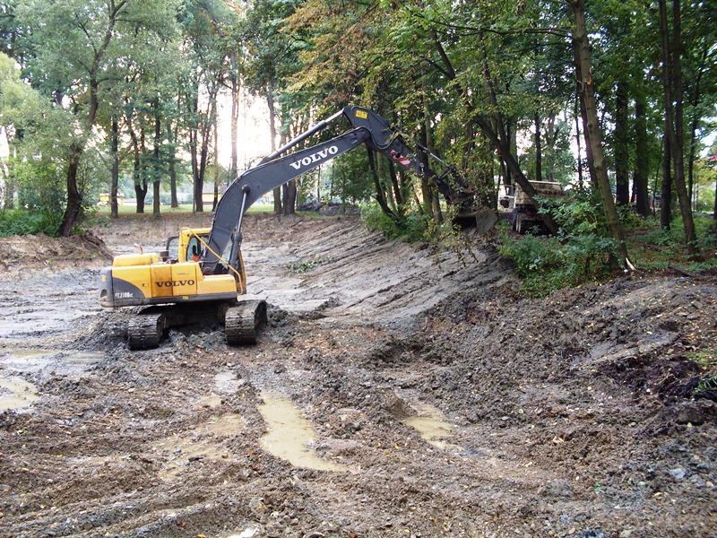 Park wLipinkach. Zbliża się finisz prac przy rewitalizacji stawów