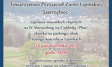 """IV Marszobieg naCieklinkę. Zaprasza Towarzystwo """"Jastrzębiec"""""""