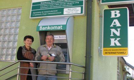 Bankomat wBanku Spółdzielczym wLipinkach wtrosce oklientów