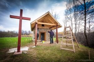 Ostatnie prace remontowe przy kapliczce św.Marcina