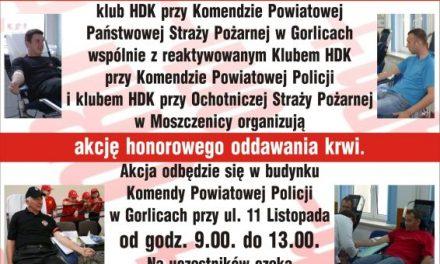 Niebądź żyła! Oddaj krew wspólnie zestrażakami ipolicjantami!
