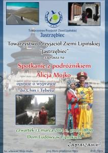 plakat spotkanie zAlicja Mojko
