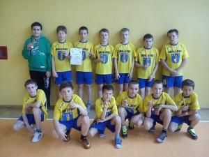 Brązowa drużyna piłkarzy ręcznych zSP Lipinki