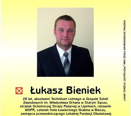 Kandydat nawójta Łukasz Bieniek doMieszkańców Gminy Lipinki