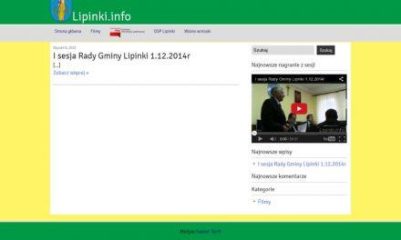 Film zsesji Rady Gminy Lipinki dostępny wInternecie