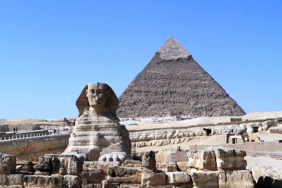 Die Pyramiden und Sphinx von Gizeh in gypten
