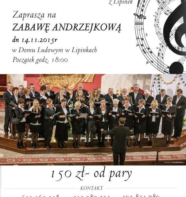 Zabawa Andrzejkowa zChórem Parafialnym Cantate Domino zLipinek