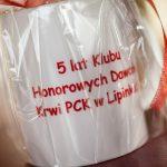 Krwiodawcy lipińskiego Klubu HDK świętowali 5 lat działalności