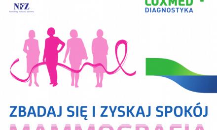 Bezpłatne badania mammograficzne wLipinkach