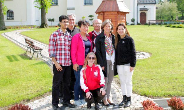 Rodzina Gondek zBrazylii zwizytą wLipinkach