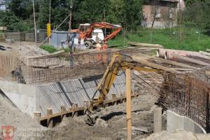 Budowa mostu wLibuszy - fot.Starostwo Powiatowe wGorlicach