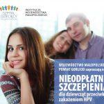 Bezpłatne szczepienia przeciwko zakażeniom HPV dla dziewcząt zpowiatu gorlickiego