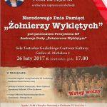 Dzień Pamięci Żołnierzy Wyklętych wGorlicach. Zaprasza Poseł Barbara Bartuś