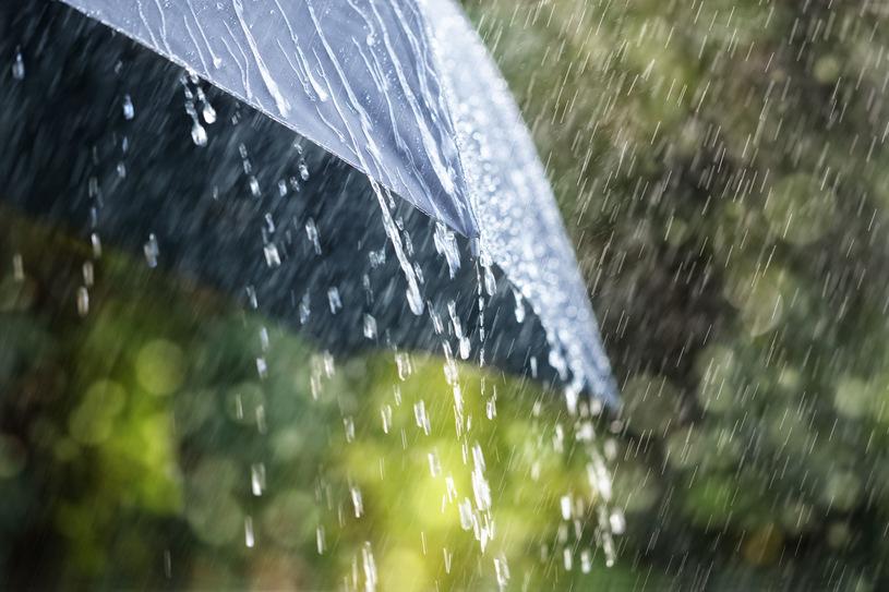 Burze zgradem iintensywne opady deszczu