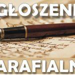 Parafia Lipinki: Ogłoszenia parafialne iintencje mszalne od20 do26 stycznia 2020 roku