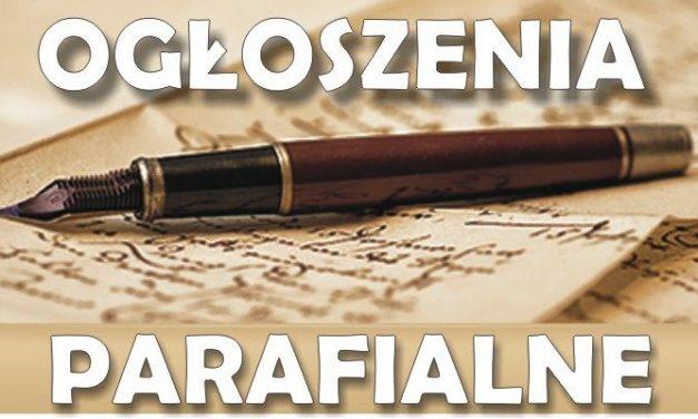 Parafia Lipinki: Ogłoszenia parafialne iintencje mszalne na8. NIEDZIELĘ ZWYKŁĄ