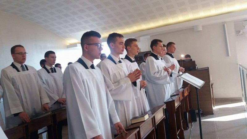 Nowy kleryk rzeszowskiego seminarium zparafii Pagorzyna