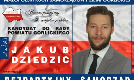 Jakub Dziedzic – nasz kandydat doRady Powiatu Gorlickiego