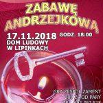 Chór Cantate Domino zLipinek zaprasza naZabawę Andrzejkową